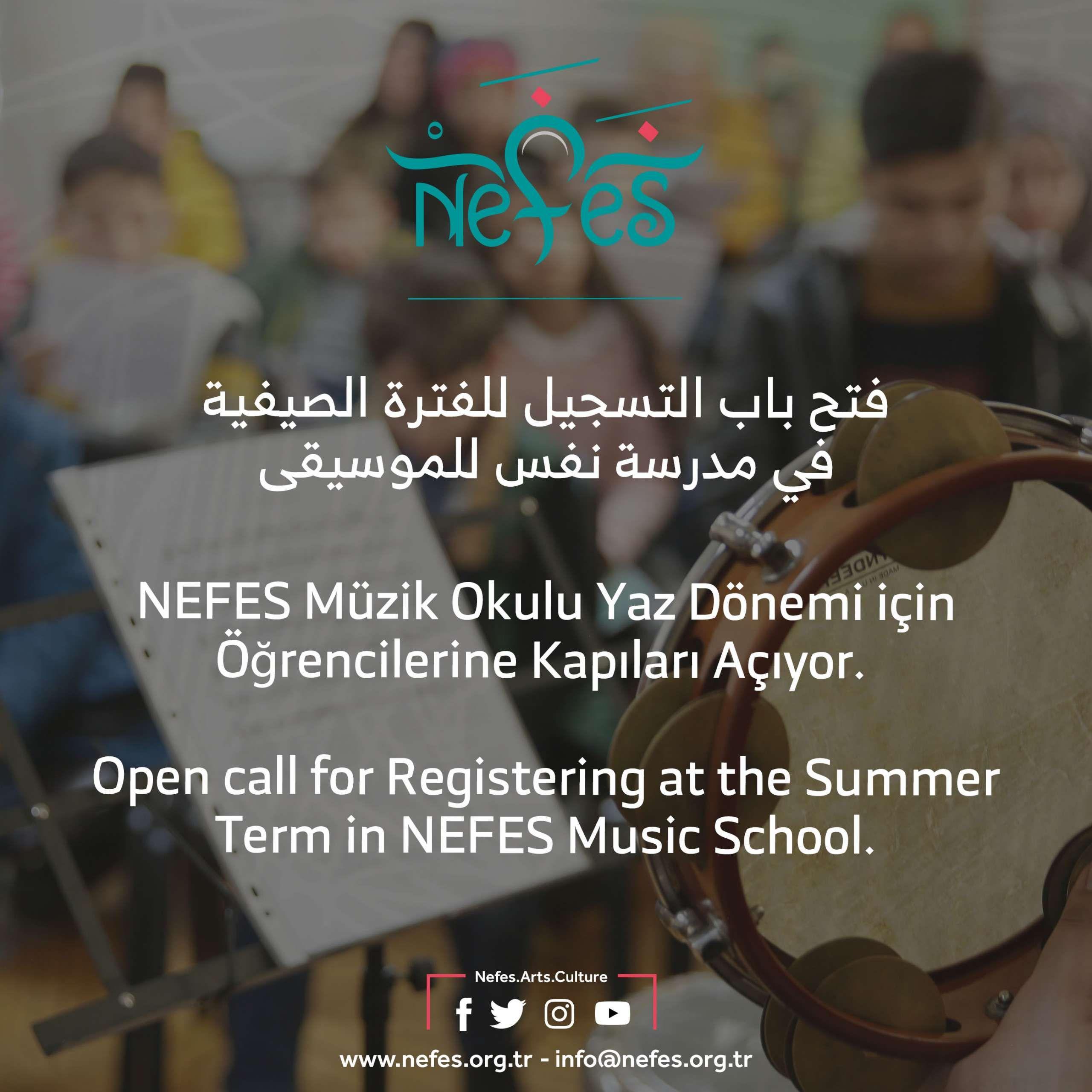 NEFES Müzik Okulu Yaz Dönemi için Öğrencilerine Kapıları Açıyor